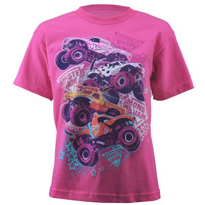 Monster Jam Youth Series Tee - Hot Pink