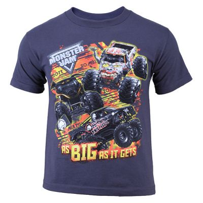 Monster Jam Youth Series Tee - Grey