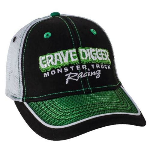 Grave Digger Green Mesh Bill Cap by Monster Jam