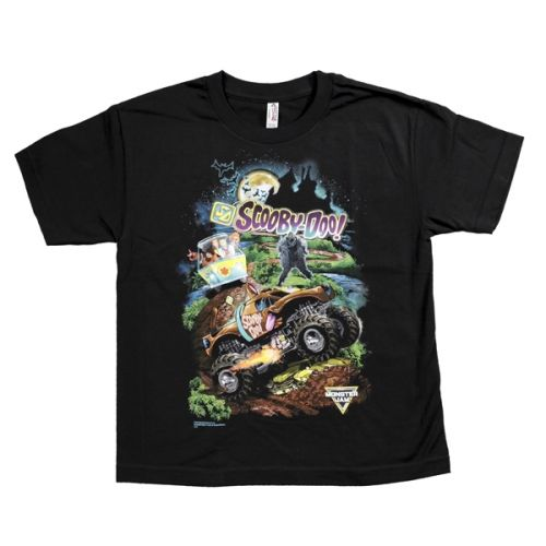 Scooby-Doo Youth Tee Black by Monster Jam