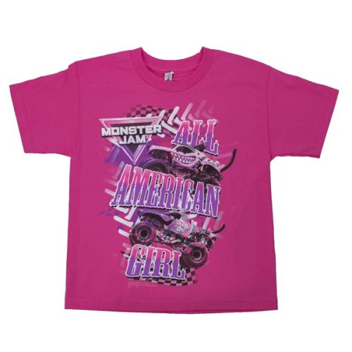 All American Girl Youth Tee by Monster Jam