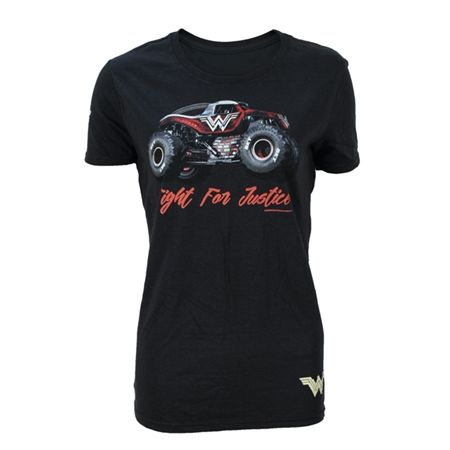 Wonder Woman Ladies Justice Tee Black by Monster Jam