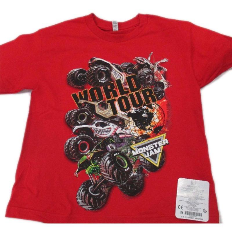 Monster Jam Series 2017 Red Youth Tee